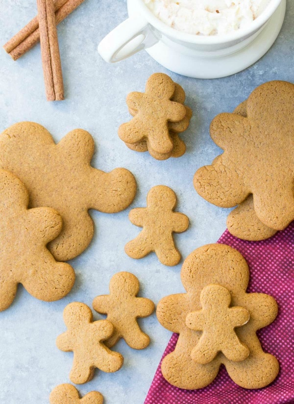 Gingerbread Cookies, 30 Delicious Christmas Cookie Recipes via A Blissful Nest