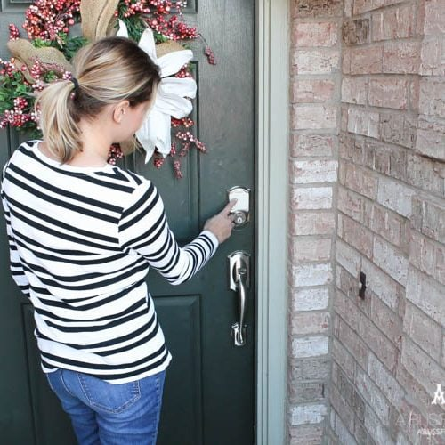 Get your home ready for the holidays with a simple and easy update. I ADORE Schlage hardware and its stylish look and secure features! See more on http://ablissfulnest.com/