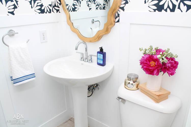 Powder Bathroom Makeover Reveal