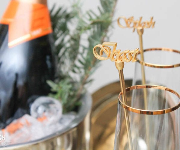 New Year's Eve Essentials + Tips For The Best NYE Bar Cart