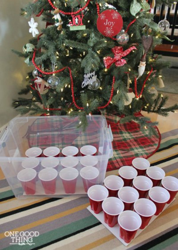 Christmas Decoration Storage solutions - never break another ornament by storing ornaments in plastic cups.