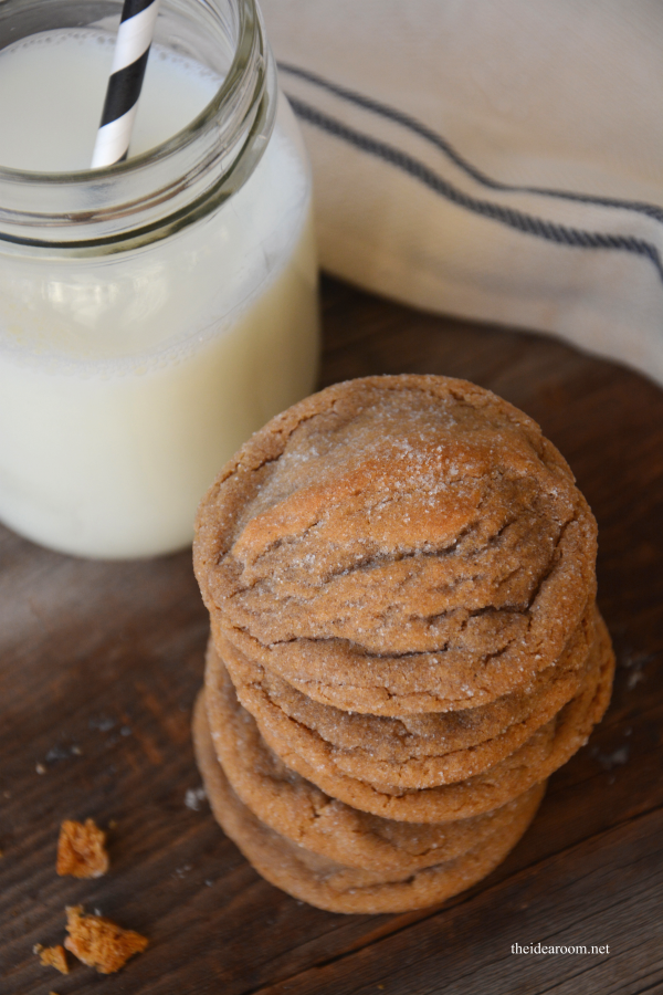 Soft and Chewy Ginger Molasses Cookies, 30 Delicious Christmas Cookie Recipes via A Blissful Nest