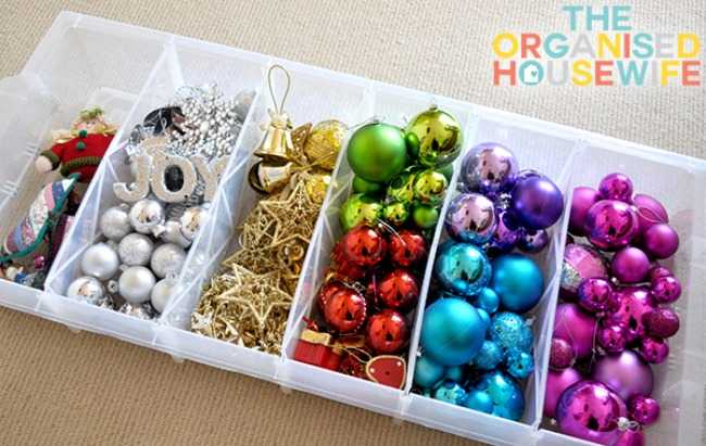 Christmas Decoration Storage solutions - ornament storage keeps your ornaments and little pieces in tact.