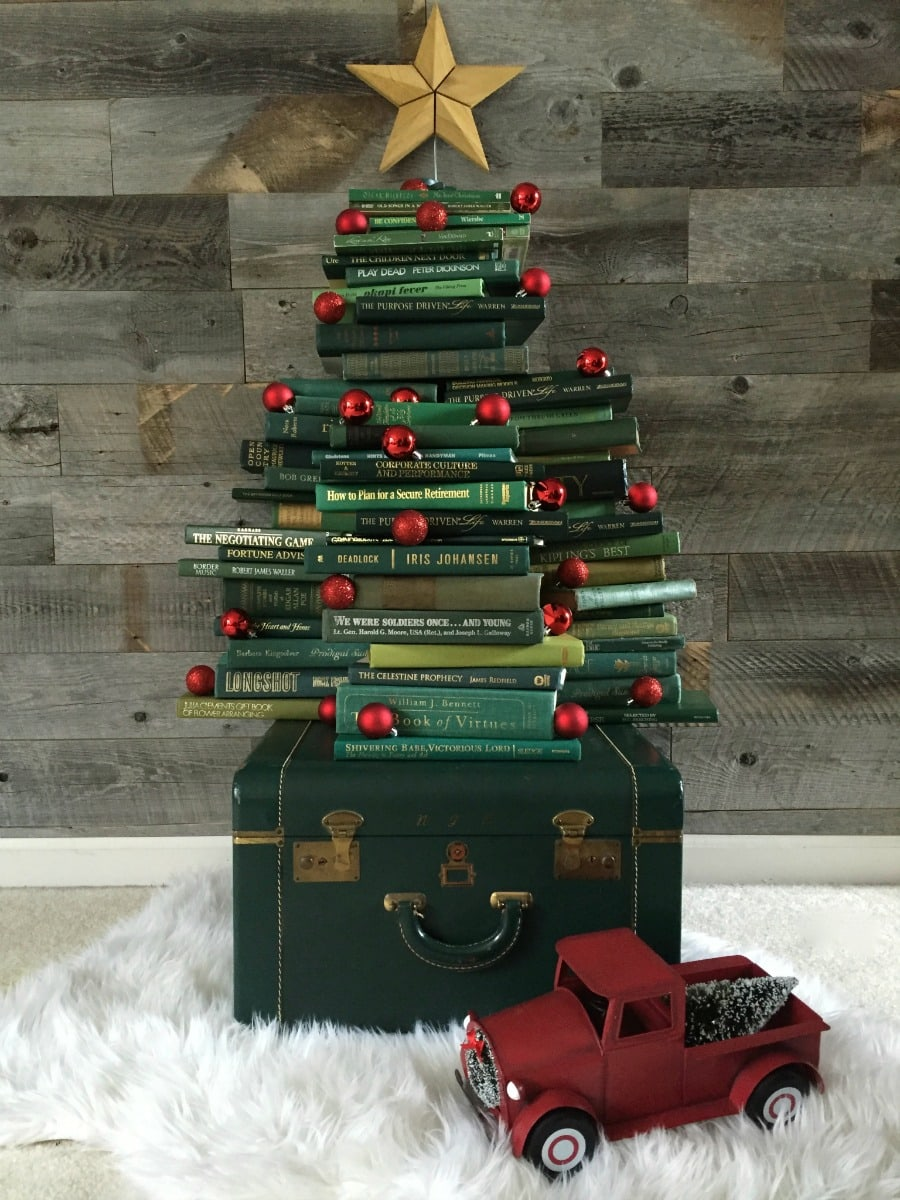 Vintage Book Christmas Tree - A Blissful Nest