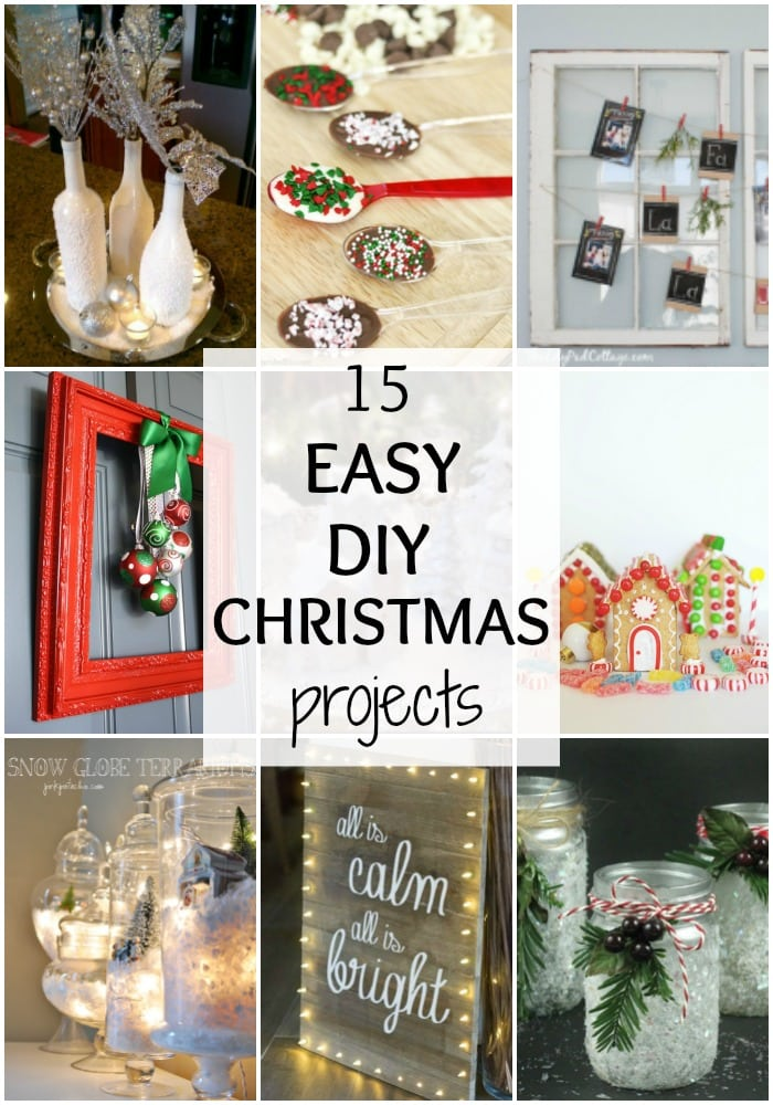 Get your home ready with these 15 Easy DIY Christmas Projects! You can do a crafting party, or just get the kids together to make these fun projects. See them all at https://ablissfulnest.com/ #Christmas #DIYChristmas #ChristmasProjects