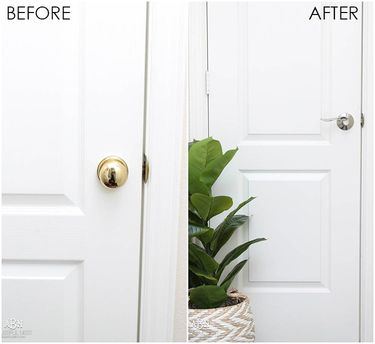 Love this simple and inexpensive way to update your home! Schlage hardware is gorgeous quality hardware for your home. See more on https://ablissfulnest.com/ SchlageInteriorInspo SchlageOpenPossibilities AD