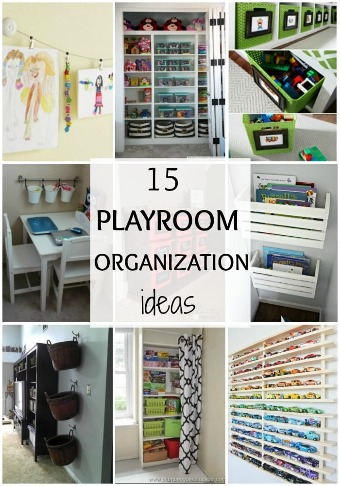 Playroom Organization Ideas via A Blissful Nest