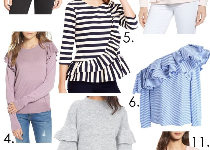 Ruffles are in! These are so cute and super girly to add to your wardrobe! See more on https://ablissfulnest.com/