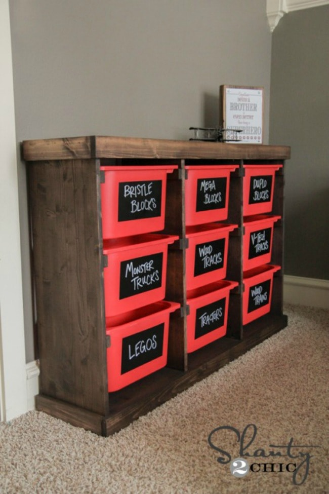 Shanty 2 Chic, Playroom Organization Ideas via A Blissful Nest