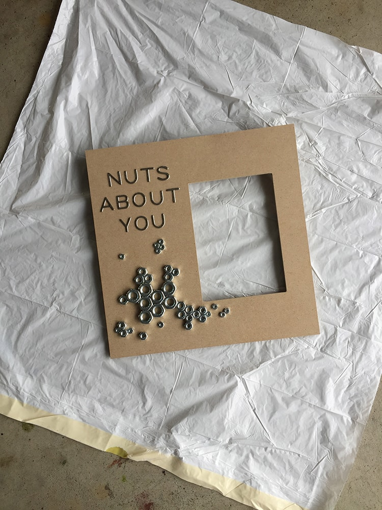 This is such a cute and humorous idea for Valentine's Day! Nuts About You Valentine Art Idea. See more at https://ablissfulnest.com/ #ValentinesDay #Valentine #ValentineArt
