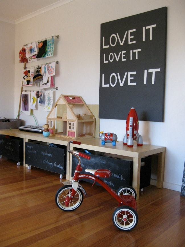 via Flickr, Playroom Organization Ideas via A Blissful Nest