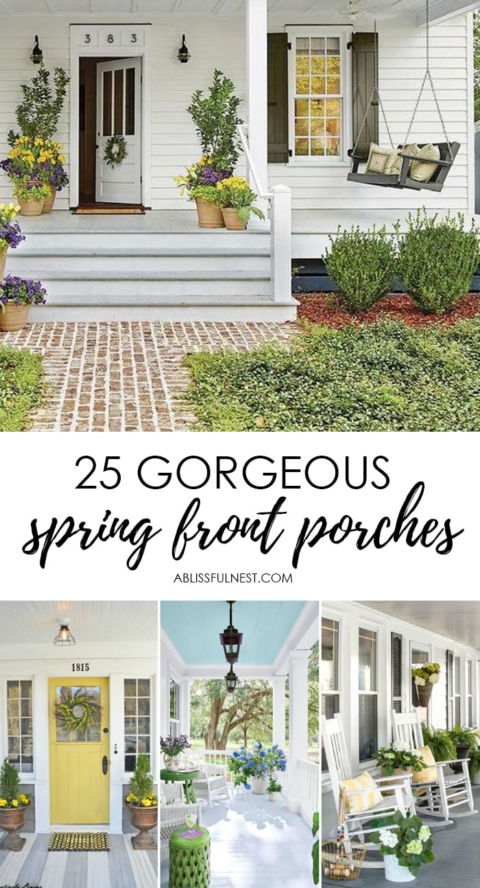 Small Front Porches Designs Front Porch Steps Porch Design: 25 Spring Front Porch Ideas: Bright And Refreshing Design