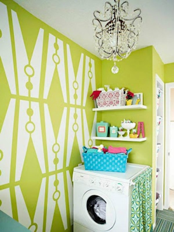Creative laundry room ideas for your home 20 ways to get - Laundry room wall ideas ...