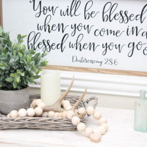 DIY Farmhouse Wood Prayer Beads Tutorial