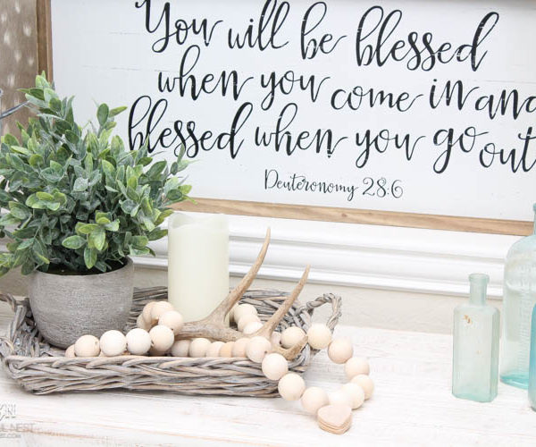 DIY Farmhouse Wood Prayer Beads Tutorial