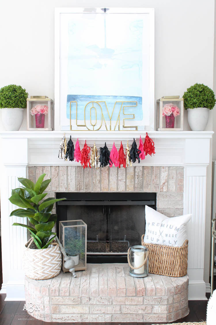 Design Mantle Decor our valentines day mantle decor a blissful nest love this modern look for super easy to recreate with
