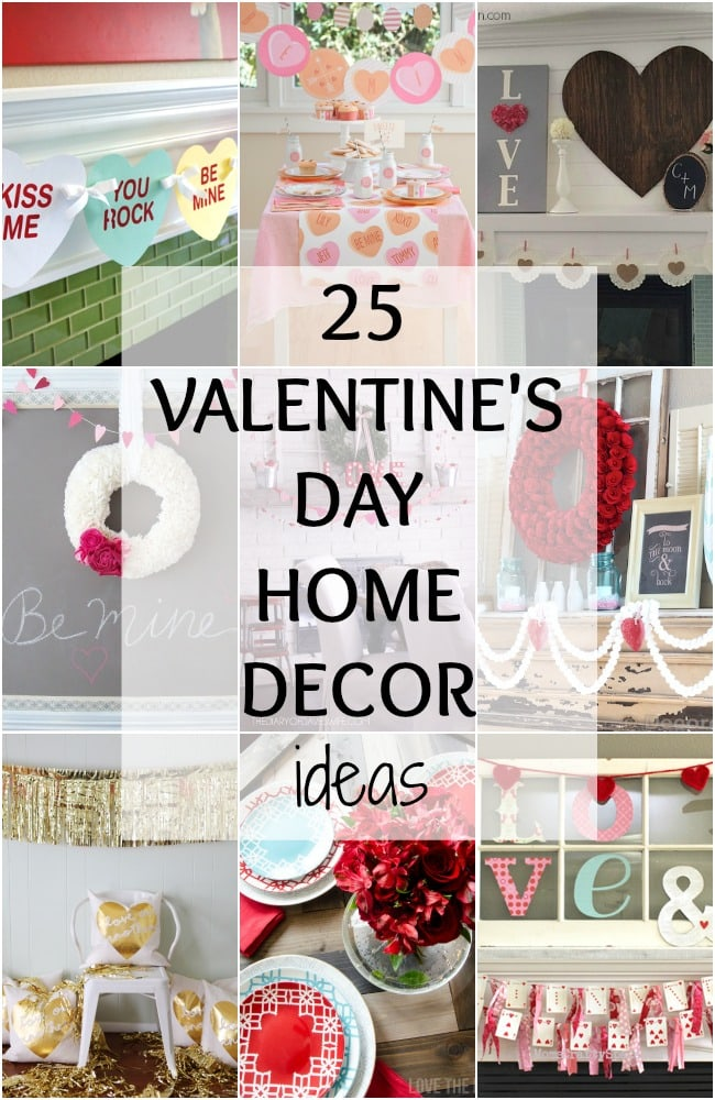These are the BEST Valentine's Day home decor ideas! See more on http://ablissfulnest.com/