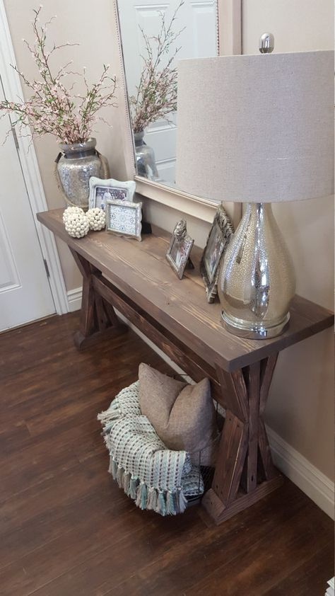 Genial Easy Ways To Style A Console Table By Adding Height, Seating, And  Accessories.