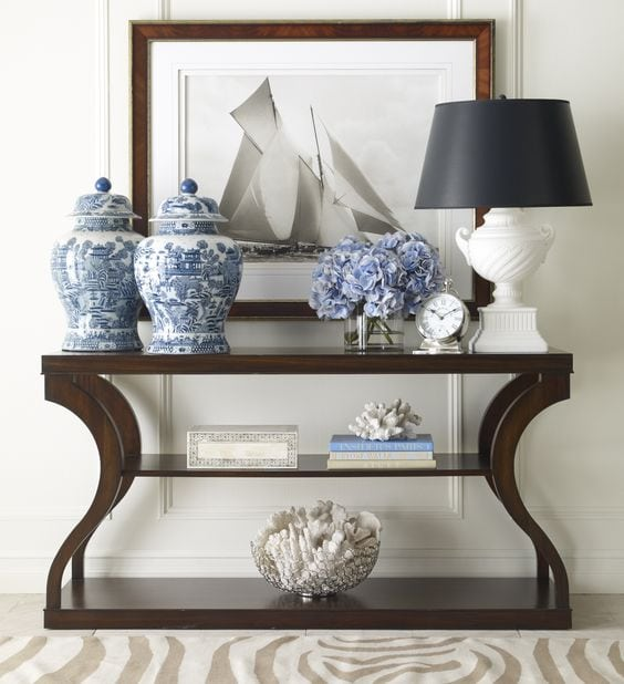 Awesome Easy Ways To Style A Console Table By Adding Height, Seating, And  Accessories.