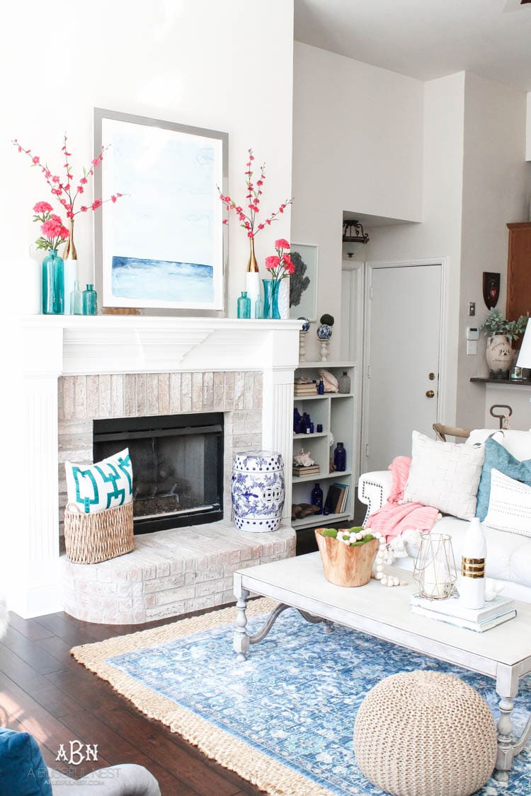 Spring Living Room Refresh Ideas with Fresh Spring Colors