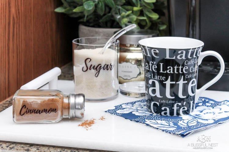 Coffee Cabinet Organization Tips + Free Printables