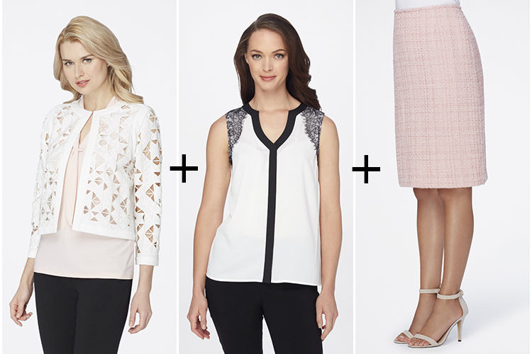 Love these spring fashion trends featuring key pieces from Tahari! #ad #springfashion
