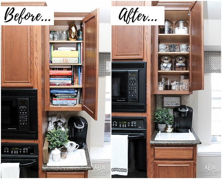 Nice Transform A Dead Cabinet Space With These Coffee Cabinet