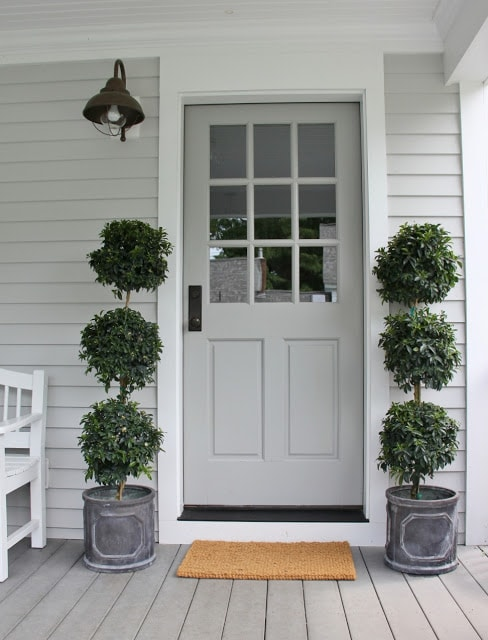 Front door paint colors to create gorgeous curb appeal - What color door goes with gray house ...