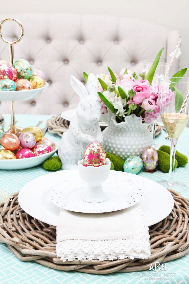 easter table decorations bright amp colorful easter table decor ideas with pops of gold 31704