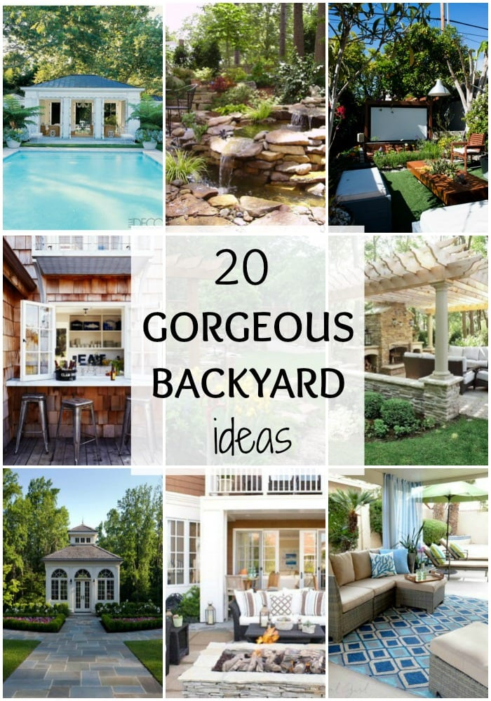 These are just gorgeous backyard ideas to inspire you to get yours ready for the season! See more on https://ablissfulnest.com/ #backyard #patio #designtips