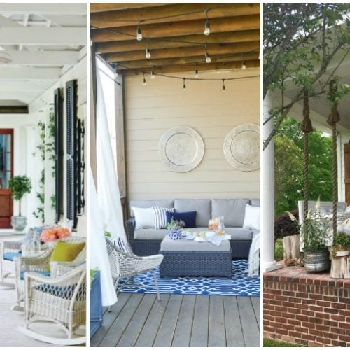 Superb Our Summer Backyard Patio Refresh Beautiful Summer Front Porches
