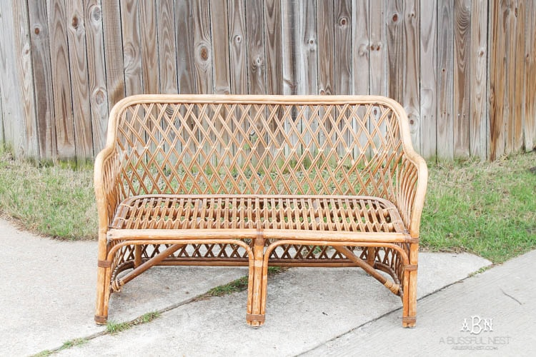 This Is Such An Amazing Transformation On This DIY Rattan Bench Makeover! I  Love The