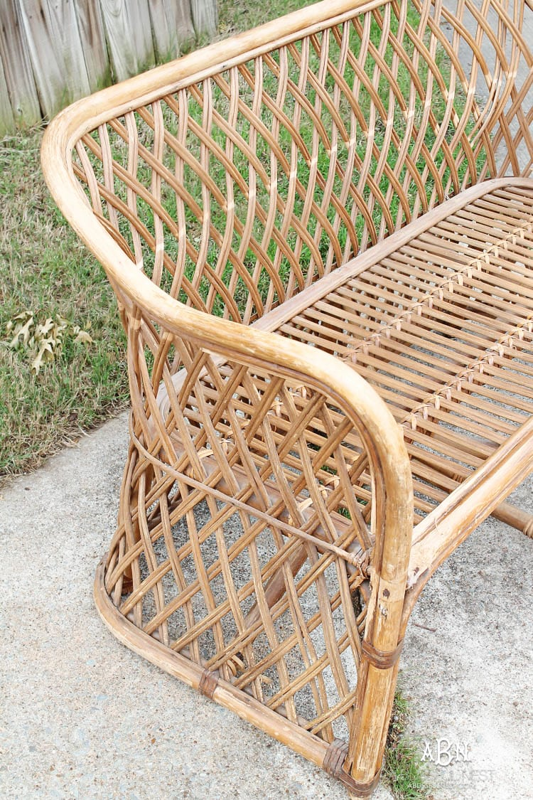 Diy Rattan Bench Makeover With Target Devine Color Paint