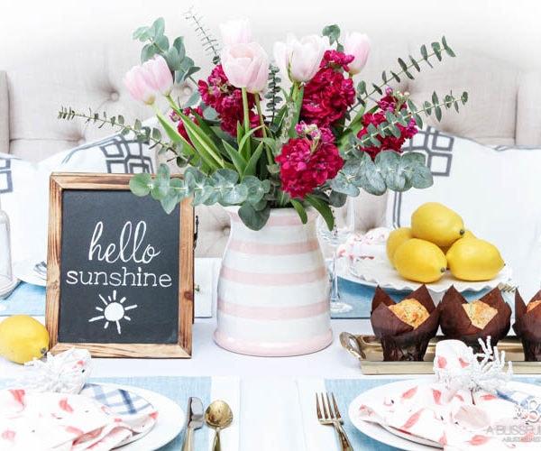Summer Brunch Tablescape Idea