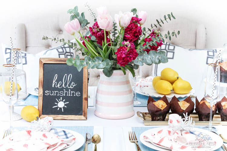 Summer Brunch Tablescape Idea