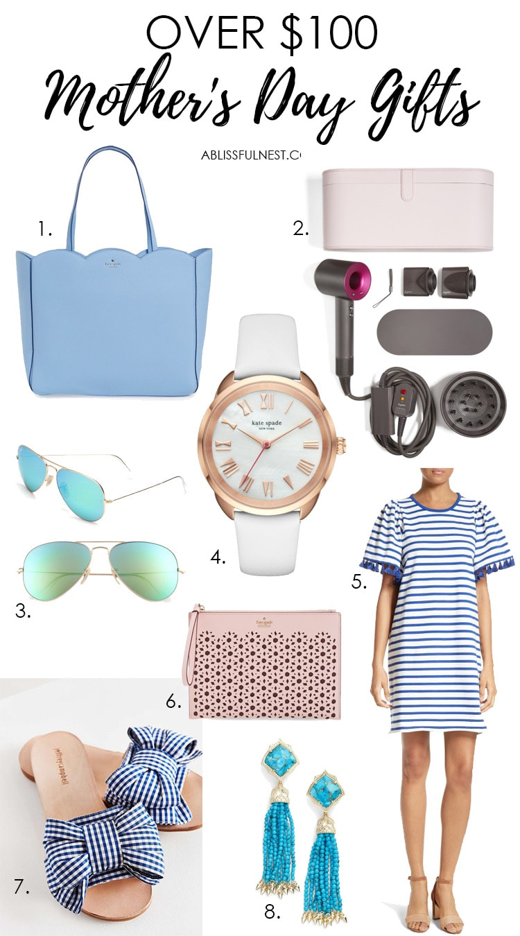 Get great Mother's Day gift ideas with this list of items over $100! See more on http://ablissfulnest.com/ #mothersday