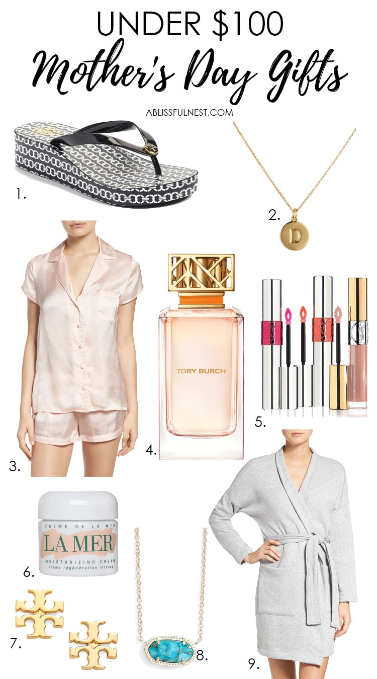 Get great Mother's Day gift ideas with this list of items all under $100! See more on https://ablissfulnest.com/ #mothersday