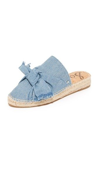 A super cute espadrille with a denim twist.