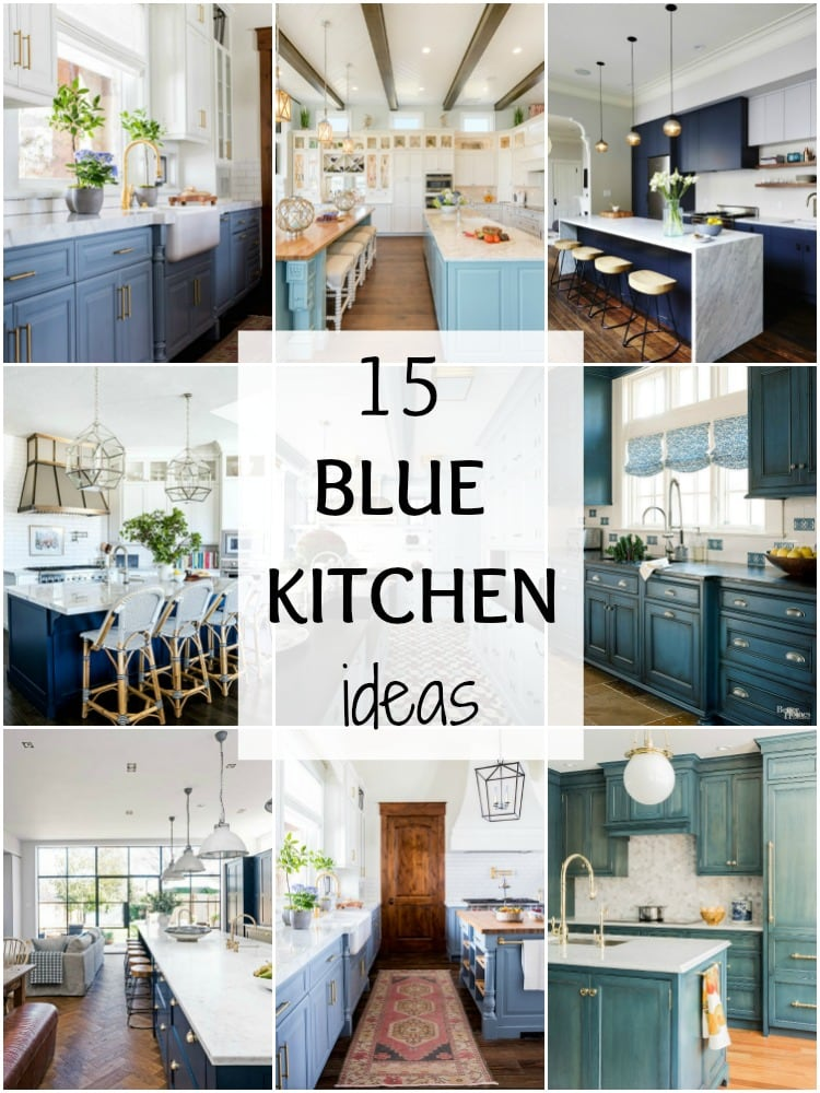 15 Gorgeous Blue Kitchen Ideas - Blue Kitchen Cabinet Ideas