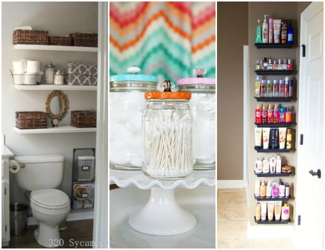 These ideas for organizing your bathroom are amazing!