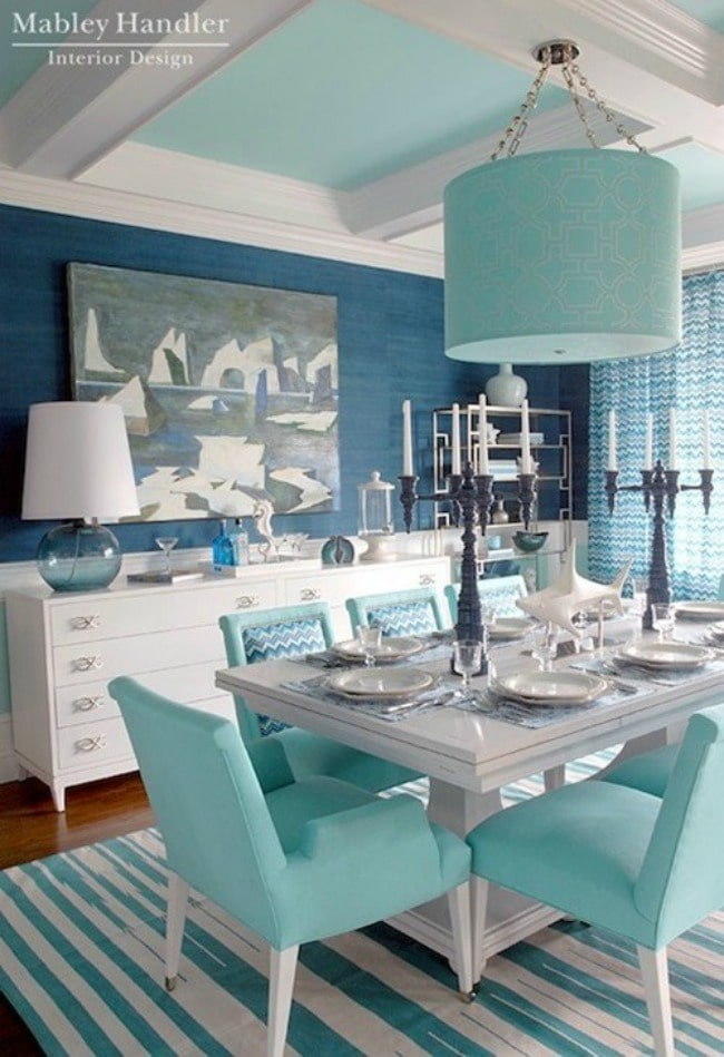 Teal Dining Room Ideas Part - 46: Gorgeous Dining Room Ideas With Color For A Designer Look And Unique Design  Ideas! See