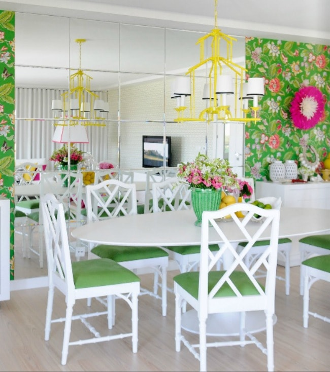 Gorgeous dining room ideas with color for a designer look and unique design ideas! see more on http://ablissfulnest.com/