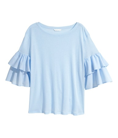 This ruffle top is a steal at only $15!!