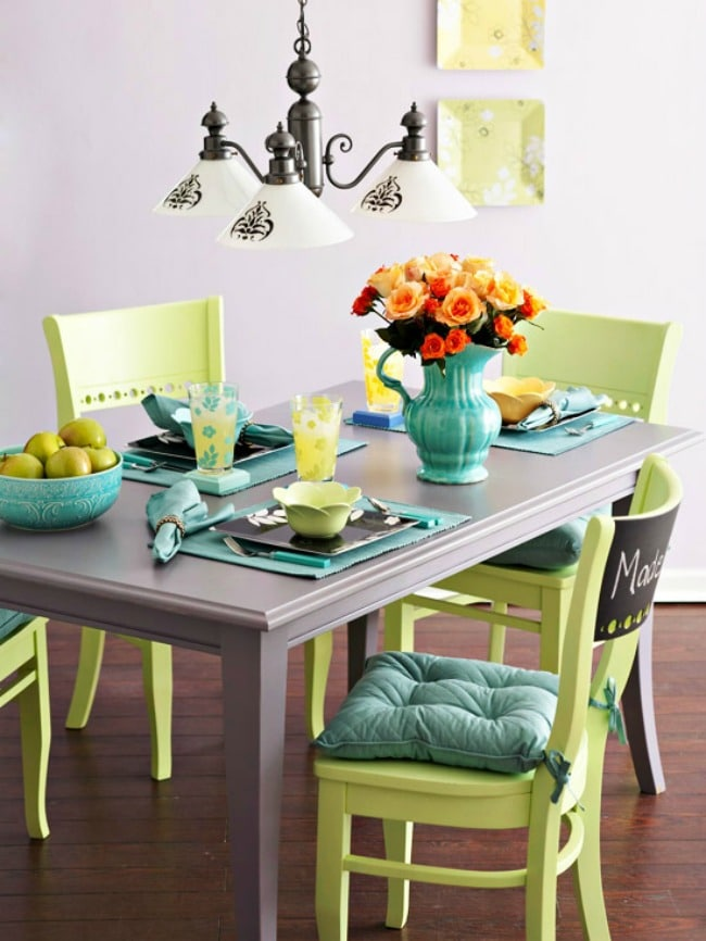 Gorgeous dining room ideas with color for a designer look and unique design ideas! see more on https://ablissfulnest.com/