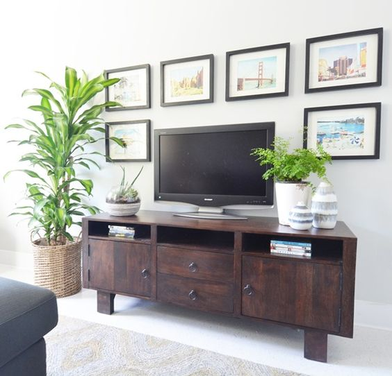 New tips and trends on how to decorate around a TV, visit http://ablissfulnest.com/ #interiors #designtips