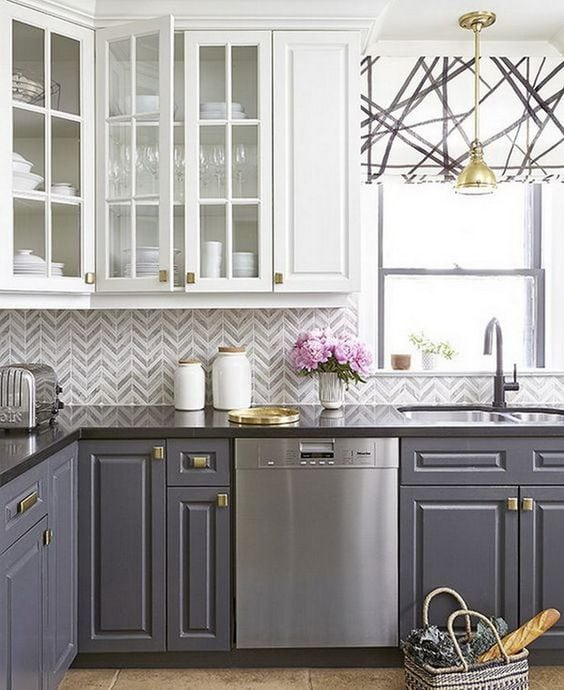 20 Beautiful Kitchen Cabinet Colors - A Blissful Nest