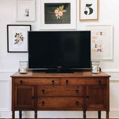How to Decorate Around The TV: Creating a TV Gallery Wall