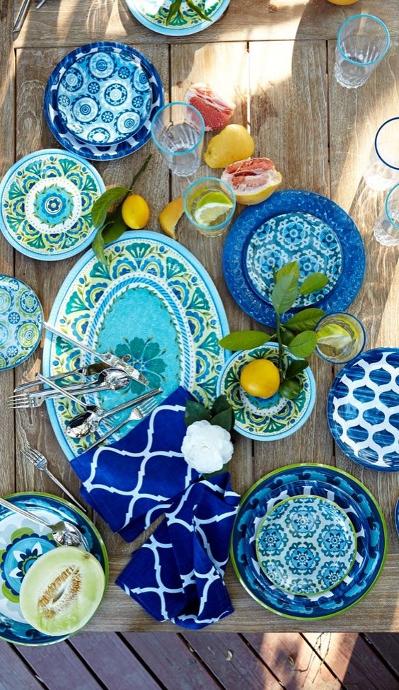 Blue Wedding Plates