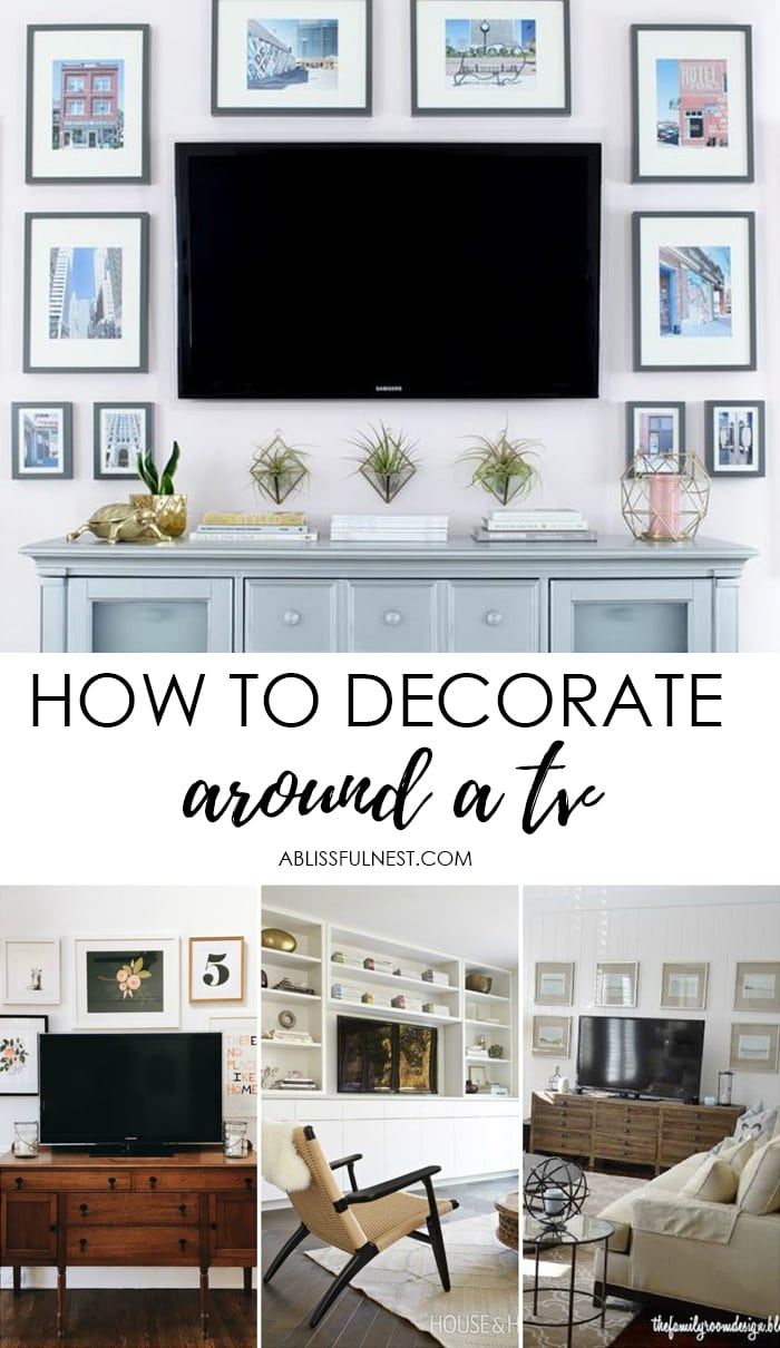 Cleaning Big Screen Tv: How To Decorate Around The TV With A TV Gallery Wall