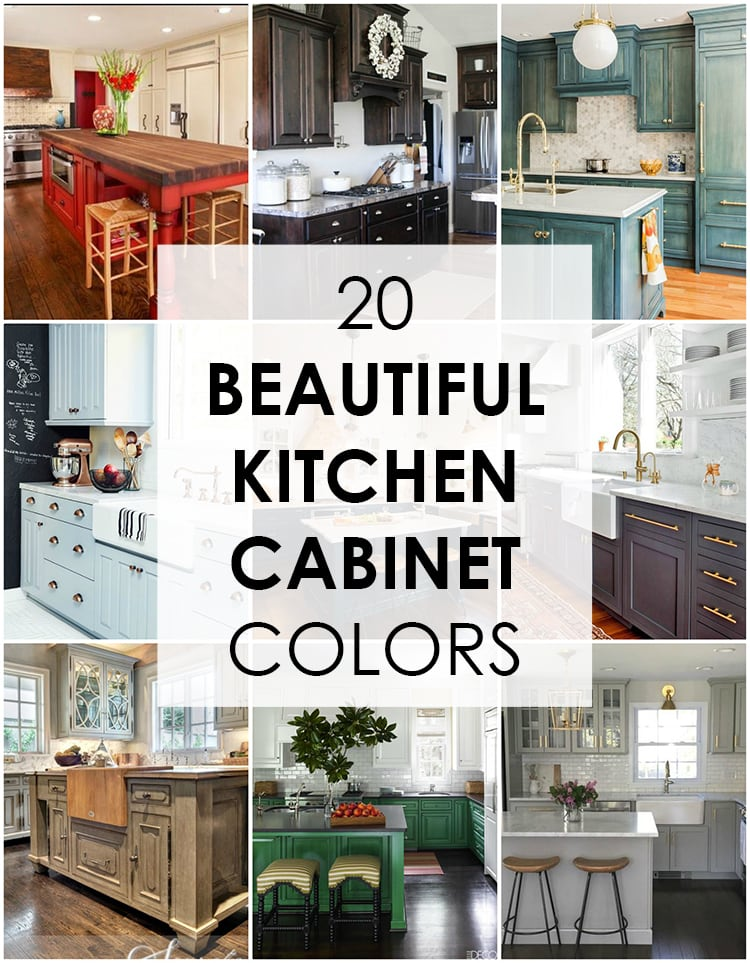 Amazing These are the best kitchen cabinet colors to choose from Love all the variations to